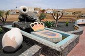 Kasaba pajara, Kanarya Adası fuerteventura heykel — Stok fotoğraf
