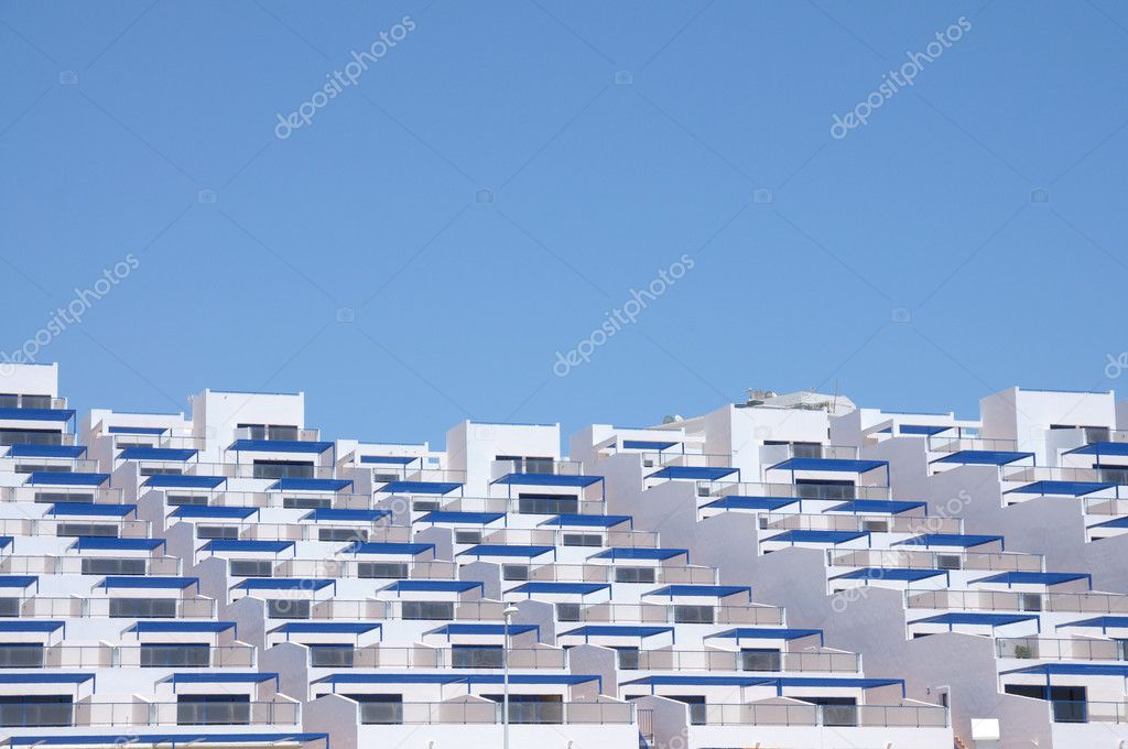 Modern Apartment Building in Spain — Stock Photo #6892182