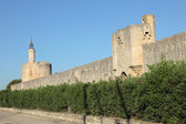 City wall of the medieval town Aigues-Mortes, France — Stock Photo