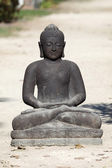 Black statue of the buddha — Foto Stock