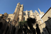 The medieval cathedral of Narbonne, southern France — Stock Photo