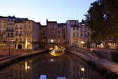 Canal du Midi in the city of Narbonne, France — Stock Photo
