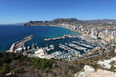 View over Mediterranean Resort Calpe in Spain — Stock Photo