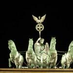 Quadriga on Top of Brandenburger Gate in Berlin — Stock Photo