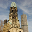 Kaiser Wilhelm Memorial Church in Berlin, Germany - 图库照片