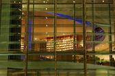 Modern Building Facade at Night — Stock Photo