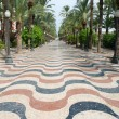 Stock Photo: Esplanade in Alicante, Southern Spain