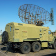 Stock Photo: Older russimilitary truck with radar