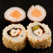 Sushi maki and California rolls — Stock Photo