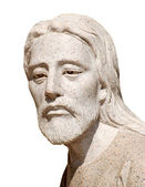 Statue of Jesus Christ isolated over white background — Stock Photo