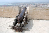 Medieval cannon in Alicante Spain — Stock Photo