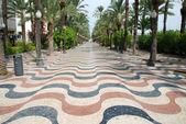 Esplanade in Alicante, Southern Spain — Stock Photo