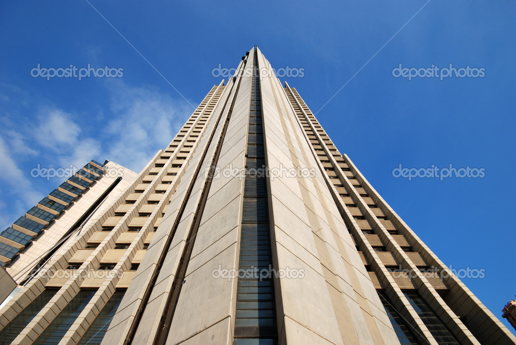Futuristic business tower skyscraper — Stock Photo #7540324