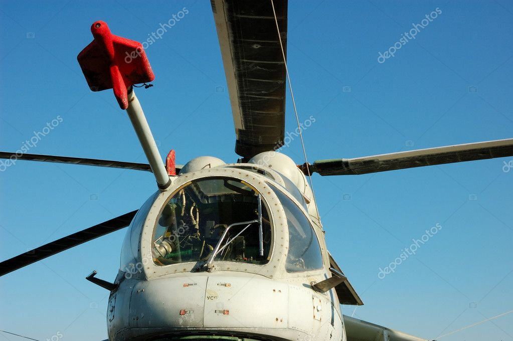 Russian Helicopter Mi-24 Hind  Stock Photo #7544233