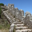 Stock Photo: Ancient wall in the Castle of the Moors, Sintra Portugal