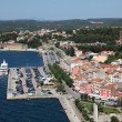 Aerial view over the old town of Rovinj, Croatia — Stock Photo