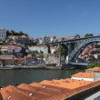 Porto and Dom Luis I bridge, Portugal — Stock Photo