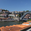 Stock Photo: Porto and Dom Luis I bridge, Portugal