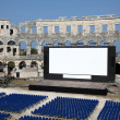 Open Air Cinema in the ancient Roman amphitheater — Stock Photo #7578788