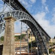 Stock Photo: Dom Luis I bridge over the Douro River in Oporto, Portugal