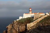 Lighthouse at Cape St. Vincent in Algarve, Portugal — Stock Photo