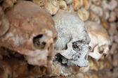 Faro, portekiz bir kilisede duvar kafatasları — Stok fotoğraf