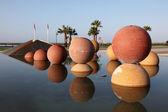 Monument in the city of Faro, Algarve Portugal — Stock Photo