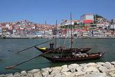 Traditional boats at Douro river in Porto, Portugal — Stock Photo