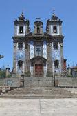 Kerk van santo ildefonso in de oude stad van porto, portugal — Stockfoto
