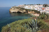 Algarve strand in carvoeiro, portugal — Stockfoto