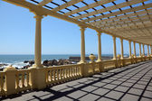 Pergola at the beach in Porto, Portugal — Stockfoto