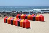 коробки купание на пляже возле порту, португалия — Стоковое фото