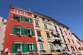 Residentiële huizen in rovinj, kroatië — Stockfoto