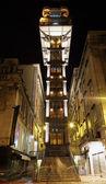 Famoso histórico elevador de santa justa em lisboa, portugal — Foto Stock