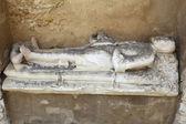Sochy hrob v igreja do carmo lisabon portugalsko — Stock fotografie
