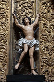 Jesus Christ statue in a church in Porto, Portugal — Foto de Stock