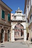 Gate to the old town of Rovinj, Croatia — Stock Photo