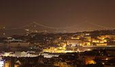 City of Lisbon at night, Portugal — Stock Photo
