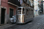 Old cable car in the street of Lisbon, Portugal — Stock Photo