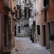 Street in the old town of Rovinj, Croatia — Stock Photo