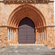 Gothic door of an ancient cathedral in Portugal — Stock Photo