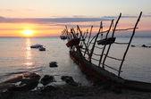 Sunset at the Adriatic Sea in Croatia — Stock Photo