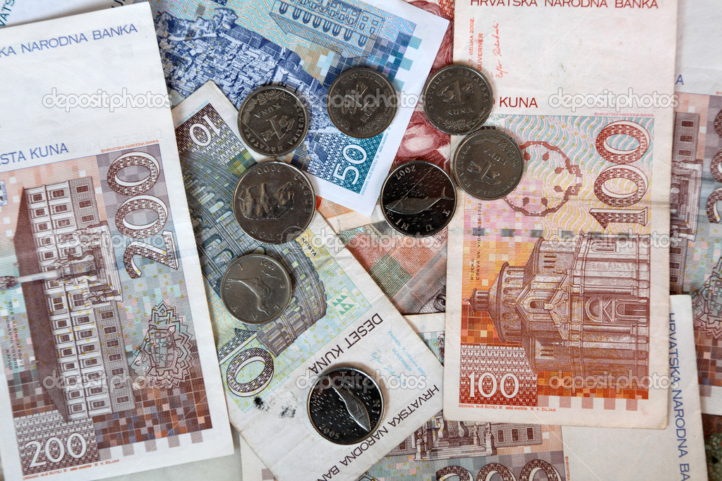Kuna - Croatian Banknotes and Coins — Stock Photo #7580190
