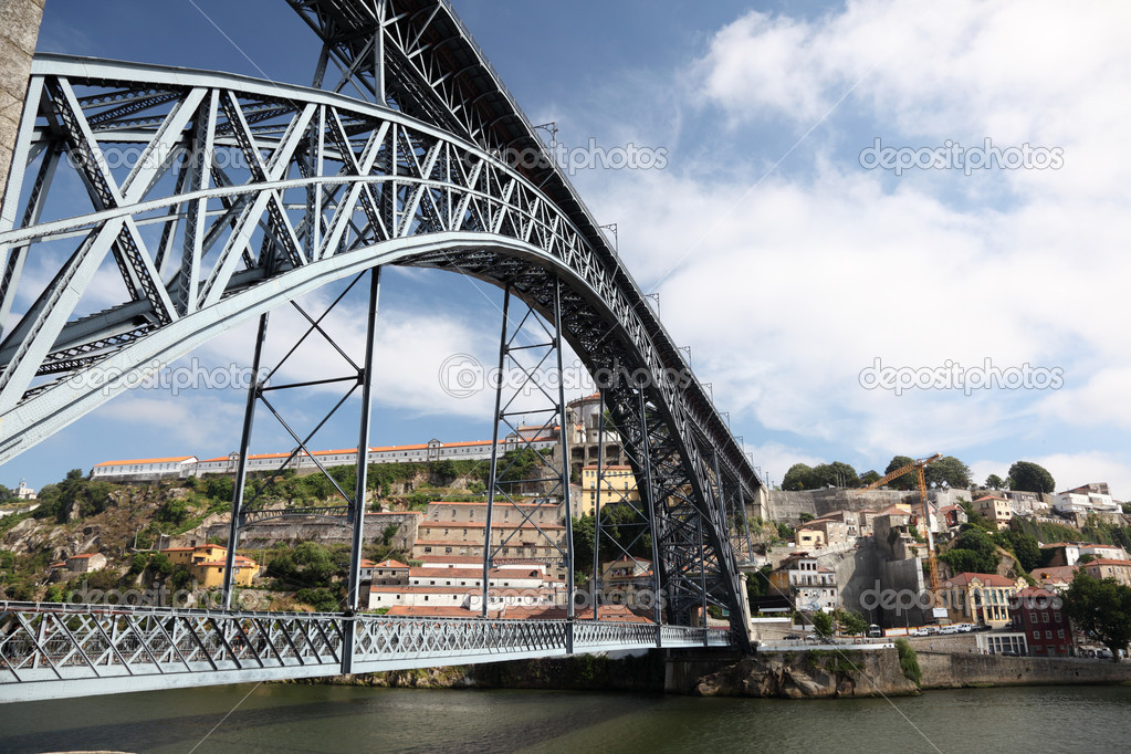 Dom Luis I Bridge in Porto, Portugal  Stock Photo #7581137