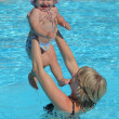 Royalty-Free Stock Photo: Mother with her toddler daughter in a swimming pool