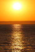 Golden sunset over the Mediterranean Sea — Stock Photo