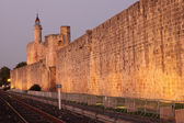Ramparts of the medieval town Aigues-Mortes, France — Stock Photo