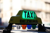 Taxi in Beziers, southern France — Stock Photo