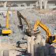 Foto Stock: Excavators at construction site