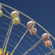Big Ferris Wheel against blue sky — Stock Photo